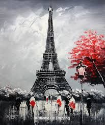 Image result for abstract paintings of the eiffel tower