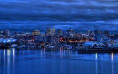 Victoria, British Columbia Skyline at The Blue Hour (HDR series) by Brandon Godfrey, via Flickr