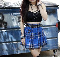 Vintage Rocker Punk HighWaist Skirt by spring2lovevintage on Etsy, $12.50