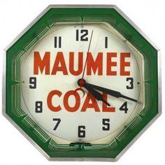 Maumee Coal neon clock