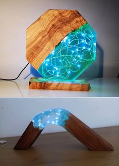Diy Resin Lamp, Resin And Wood Diy, Diy Resin Table, Epoxy Resin Art, Diy Epoxy, Diy Resin Crafts, Cement Crafts, Wood Resin, Wood Crafts