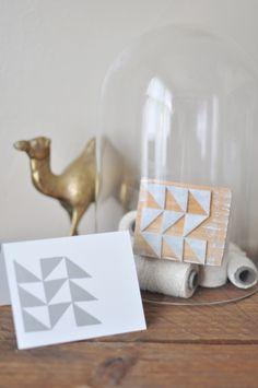 Stationary designers Wednesday show you how to make a #DIY Foam#Stamp