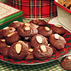 Diabetic Desserts  | Chocolate-Almond Cookies | MyRecipes.com