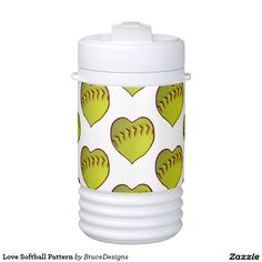 Love Softball Pattern Igloo Beverage Dispenser