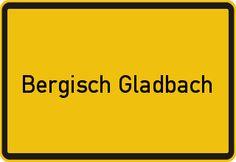 Das Ortsschild Bergisch Gladbach - ein wenig vereinfacht, denn meistens ist noch ein Ortsteil darüber oder darunter angegeben. Und dass man zum Rheinisch-Bergischen Kreis gehört.