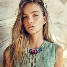 Dress up your downtime. Summer calls for accessories that stand out; see how Style me Romy styles Inka Williams Inka Williams, Turquoise Necklace, Beaded Necklace, Luxury Hair, Harley, Style Me, Dress Up, Celebrities, Model