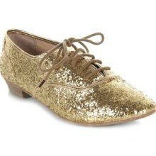 gold lace up jazz shoes