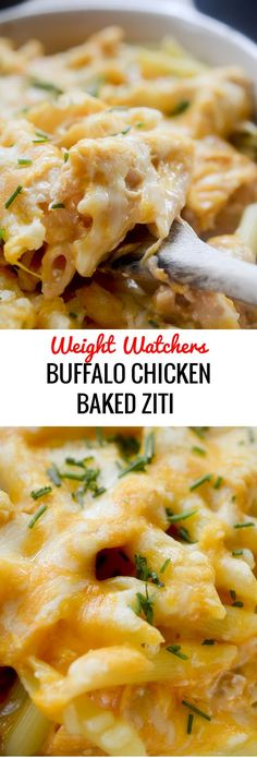 Buffalo Chicken Baked Ziti - Weight Watchers # Food and Drink healthy buffalo chicken Buffalo Chicken Baked Ziti - Recipe Diaries Skinny Recipes, Ww Recipes, Cooking Recipes, Healthy Recipes, Casseroles Healthy, Pork Recipes, Skinnytaste Recipes, Dinner Recipes, Recipies