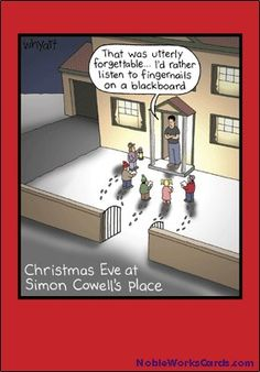 12 'simon Cowell' Humorous Boxed Greeting Cards x Inch), Merry Xmas Note Cards for Holidays, Gifts, Funny Christmas Carol Humor, Notecard Stationery w/Envelopes Christmas Eve Pictures, Christmas Jokes, Merry Christmas Card, Christmas Carol, Christmas Fun, Christmas Cartoons, Christmas Comics, Christmas Print, Simon Cowell