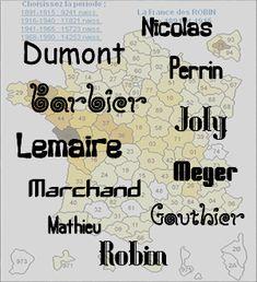 Información sobre los apellidos franceses - Significado de los Apellidos Franceses    En este sector de la página se enumeran links que contienen información sobre el origen y el significado de los apellidos.