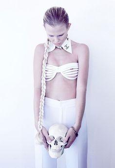 #skull #fashion #white