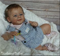 """Reborn Baby: """"Greta"""" doll kit by Andrea Arcello now PARIS by Bluebonnet Babies. On eBay Only!"""