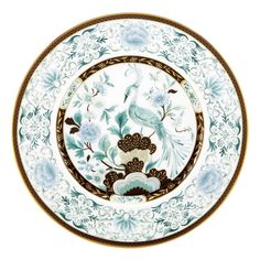 The artistry on this accent plate is reminiscent of the extraordinary detail found in Lenox china created for the White House and other dignitaries. At the center of the plate is a grand pheasant, wit