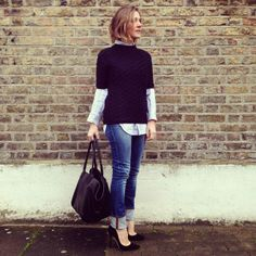 Wearing It Today: Where I get my inspiration from. I love the layering and the heels!