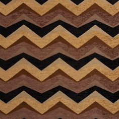Beige Brown and Black Chevron Chenille Upholstery Fabric