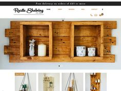 Handmade rustic shelving from reclaimed wood. FREE delivery on orders over Hanging Shelves, Floating Shelves, Rustic Shelving, Kitchen Living, Living Room, Good Find, Light Oak, Blank Walls, Wall Spaces