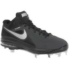 Air Max Sneakers, Sneakers Nike, Softball Cleats, Nike Air Max, Nike Shoes, Bicycle, Black And White, Metal, Size 10