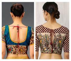 Beautiful Kalamkari blouse designs can add style statement to even a simple saree. Kalamkari Blouse Designs, Simple Sarees, Latest Trends, Crop Tops, Pattern, Beautiful, Women, Style, Fashion