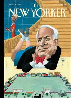 """The New Yorker - Monday, September 8, 2008 - Issue # 4276 - Vol. 84 - N° 27 - Cover """"McNopoly"""" by Mark Ulriksen"""