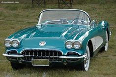 Photographs of the 1958 Chevrolet Corvette Convertible. Concours d'Elegance of America at Meadow Brook. An image gallery of the 1958 Chevrolet Corvette Chevy, Chevrolet Corvette C1, 1958 Corvette, Bugatti, Austin Martin, Automobile, Classic Corvette, Auto Retro, Classic Cars
