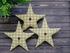 Primitive Star Bowl Fillers  Homespun Fabric by PassionforPrim