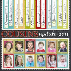 """It would be super cute to make a cousins """"update"""" page with all my cousins for GG every year! so much work though!"""