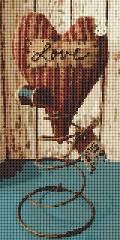 Cross Stitch Heart, Phone, Movie Posters, Vintage, Embroidery, Cross Stitch, Telephone, Film Poster, Phones