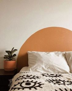 Rustic Home Decor Painted Circle Headboards