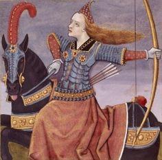 Pentesilea, reina de las amazonas.