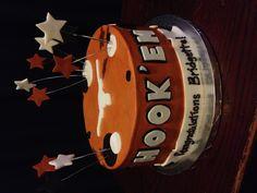 UT grad cake find me on Facebook # Rebecca's custom cakes