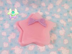 Kawaii Star Trinket Box  Pink with Purple Bow by SammysJewels, $15.00