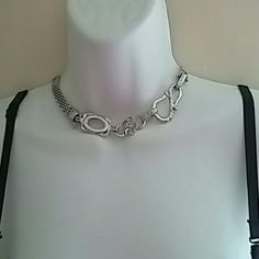 Silver Choker Necklace Silver Choker Necklace   The Bra is also available for purchase in my closet.   Check it out for bundles Jewelry Necklaces
