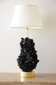 black quartz table lamp