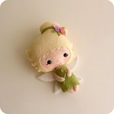 Felt Fairy PDF Pattern - gingermelon again! Love her stuff. Felt Crafts, Fabric Crafts, Craft Projects, Sewing Projects, Felt Projects, Felt Fairy, Felt Patterns, Pdf Patterns, Craft Patterns