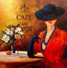 Evening Wine Painting  - Evening Wine Fine Art Print  @ http://fineartamerica.com