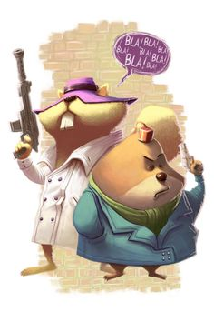 Secret Squirrel and Morocco Mole by thurZ on DeviantArt