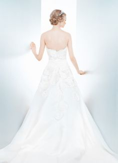 GARDENIA - Wedding Gown / 2013 Collection - by Matthew Christopher - Available colours : White & Off White (back)