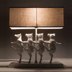 Grappige tafellamp DANCING COWS 5517080