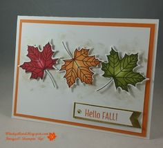 13 Pals Paper Crafting Picks of the Week (Mary Fish, Stampin' Pretty The Art of Simple & Pretty Cards) Making Greeting Cards, Vintage Greeting Cards, Greeting Cards Handmade, Vintage Postcards, Making Cards, Fall Cards, Christmas Cards, Christmas Greetings, Leaf Cards