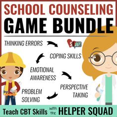 I'm in Charge of Me! Games (Original, Anxiety, & Anger). Three cognitive behavioral therapy (CBT) games for small group counseling designed to teach elementary students key cognitive behavioral skill such as identifying triggers, negative thoughts, helpful coping skills, and the impact of their behavior.