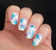 Watercolour Flowers See more #nailart - bellashoot.com (mobile-friendly), bellashoot iPhone & iPad app