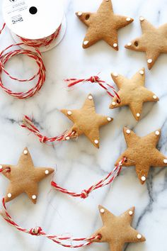 DIY Gingerbread Tree Ornaments –make Christmas ornaments out of gingerbread cookies. A fun project to do with the kids!
