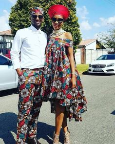 Looking at different dress styles for Couples African Shweshwe Designs For Wedding, it is easy to see why people continue to appreciate African wear. Couples African Outfits, Couple Outfits, African Attire, African Wear, African Women, African Style, African Inspired Fashion, African Print Fashion, Africa Fashion
