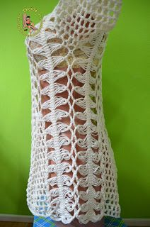 Thainá Agulha de Crochê: Blusa em crochê de grampo / Bluse aus…