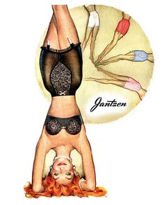 Jantzen.. I can confidently say I've never done this in my lingerie.