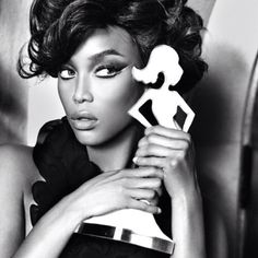 Tyra Lynn Banks - Born December 4th, 1973. She first became famous as a model, appearing twice on the cover of the Sports Illustrated Swimsuit Issue and working for Victoria's Secret as one of their original Angels. Tyra is the creator and host of the UPN/The CW reality television show America's Next Top Model, co-creator of True Beauty, and host of her own talk show, The Tyra Banks Show. My mom and I look up to her and tag her as one of the fiercest models to ever pose for a camera.