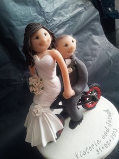 Personalised Wedding Cake Topper...Bride & by TailorMadeToppers, £95.00