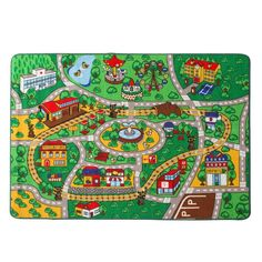 Custom Rugs Kids Rug Street Map with Road Fun Play Rug Children Area Rug for Bedroom Playroom u