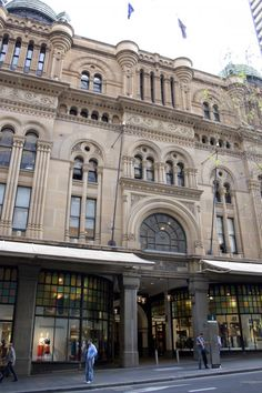 The Queen Victoria Building, Victorian Gothic, 4 levels of super shops & basement level leads into Town Hall metro railway station