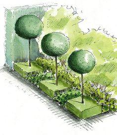 Kondziowy Ogród :) - strona 206 - Forum ogrodnicze - Ogrodowisko Landscape Sketch, Landscape Design Plans, Landscape Architecture, Plant Design, Garden Design, Plan Sketch, Concept Diagram, Layout, Garden Planning